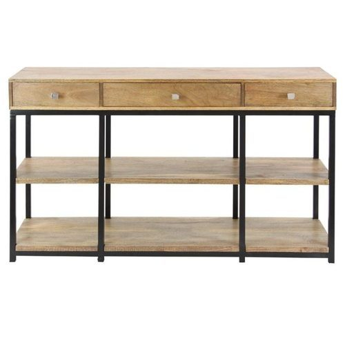 Natural Wood Metal And Wood Industrial Sideboard Rs 7000 Piece