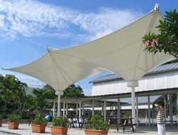Conical Inverted Gazebo Tensile Structure