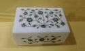 Marble Inlay Box With Rose Design