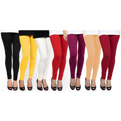 Ladies Plain Cotton Lycra Casual Churidar Legging