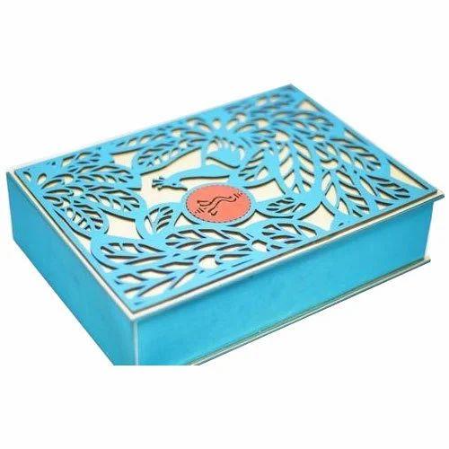 Cardboard Blue Florence Invitation Box