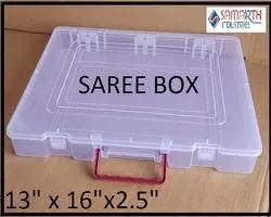 Plain Square PLASTIC SAREE PACKING BOX ( DUBBLE LOCK WITH HANDLE )