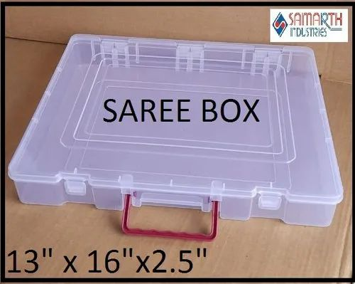 PLASTIC SAREE PACKING BOX ( DUBBLE LOCK WITH HANDLE )
