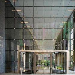 Hotel Lobby Glass Facade
