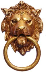 Lion Face Brass Door Knockers