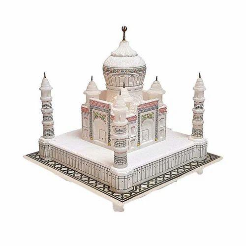 Indoor White Marble Taj Mahal, For Decoration