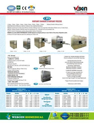 Mortuary Chambers and Equipments - Mortuary Chambers And Freezer
