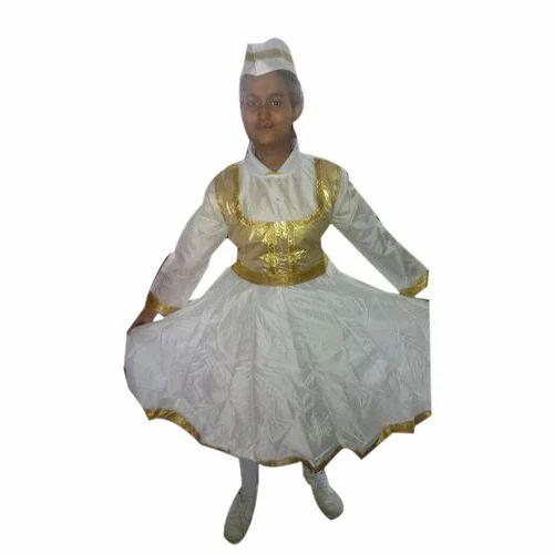 82b55b34c5 Women And Girls White And Golden Kathak / Anarkali Dress, Rs 700 ...