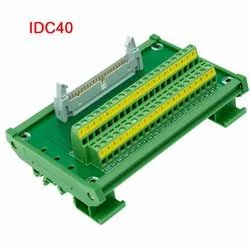 Terminal PCB 40 Pin IDC50 With DIN-50 Connector and 1 Mtr Cable