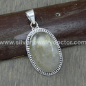 925 Sterling Silver Golden Rutile Gemstone Jewelry Handmade Pendant