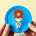 USB Gadget Cartoon Printed Insulation Electric Warmer Silicone Mat