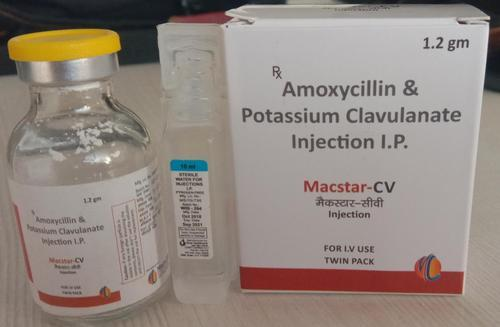 Amoxycilin Sodium 1000 mg & Potassium Calulanate Acid 200 mg Injection