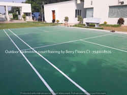 Outdoor badminton shuttle court flooring