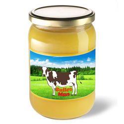 Butter Man 1 Liter Buffalo Ghee, Packaging Type: Glass Jar And Tin, Yellow