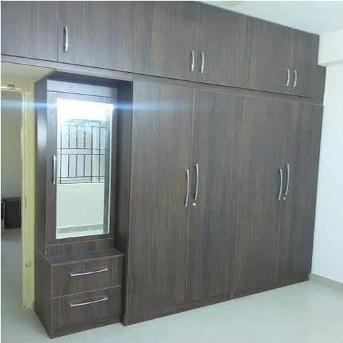 Brown Modular Bedroom Wardrobe