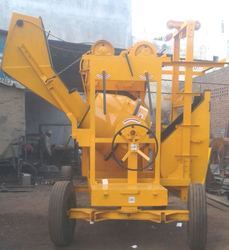 Lift Concrete Mixer with Hopper