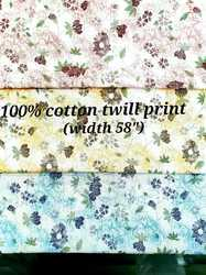 100% Cotton Twill Print