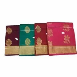 Party Wear Printed Kerala Cotton Dhoti, With Blouse, 6.25 Meter