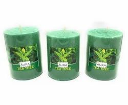 AuraDecor Teatree Pillar Candles