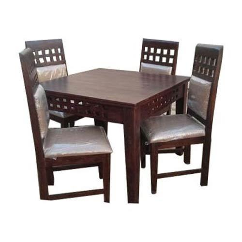 Brown Cream Wooden Dining Table Set Rs 22500 Set Sneha Furniture Id 14134844812