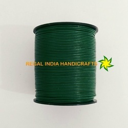 Bottle Green Round Leather Cords