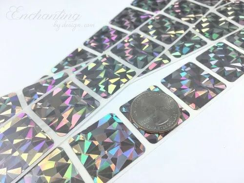 Plain Holographic Scratch off Labels
