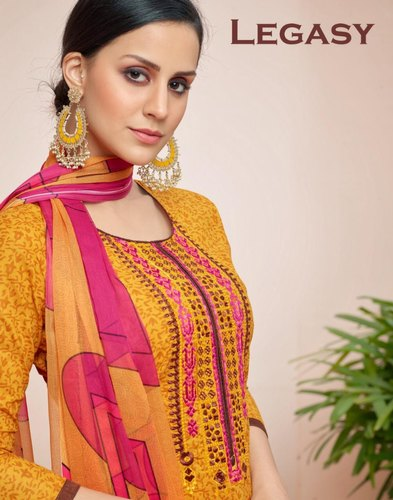 c839c9f831 Cotton Unstitched Angroop Plus Present Suit, Rs 595 /piece | ID ...