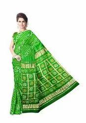 All Over Mehndi Color Gaji Silk Bandhani Saree