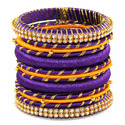 Violet Silk Thread Bangles Set