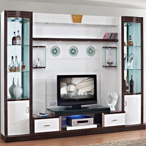 Wall Unit with Glass Shutters at Rs 1400 /square feet | Lcd Unit ...