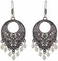Oxidized Earrings -Afghani Earrings-Oxidised Silver Chandbali-German Silver Jewelry