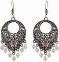 Oxidized Earrings -Afghani Earrings-Oxidised Silver Chandbali-German Silver Jewelry