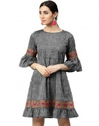 Embroidered Handloom Dress