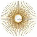 Decorative Home Accent Mirror gold finish