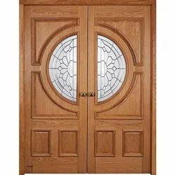 Unpolished Designer Teak Wood Door