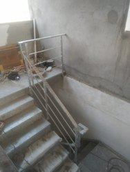 Straight Run Deck Stainless Steel Ramp Staircase
