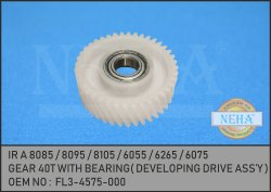 Gear 40T with Bearing FL3-4575-000 IR A 8085 / 8095 / 8105 / 6055 / 6265 / 6075