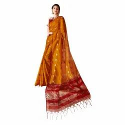Cotton Silk Traditional Weaving  Saree With Blouse Piece