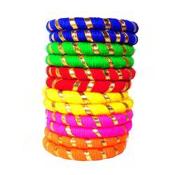 Decorated Silk Thread Bangles