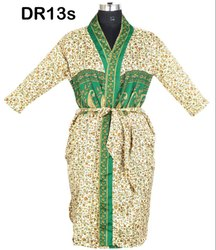 Kimono Robes Dressing Gowns Bridesmaids Vintage Recycled Saris Printed DR13s