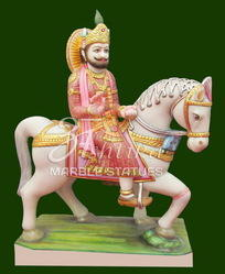 Marble Baba Ram Dev Statue
