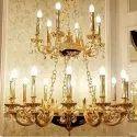 Antique Brass Hanging Chandelier
