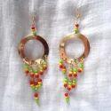 Anniversary Round Rastafarian Earrings