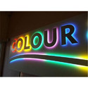 Rectangle Acrylic Neon Sign Board