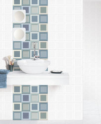 Digital 12x24 3D Bathroom Wall Tiles, Thickness: 8 - 10 mm, Size: Medium