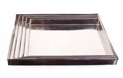 Ss 304 Hygenic Food Quality Stainless Steel Tray, For bakery usage, Shape: Rectangle