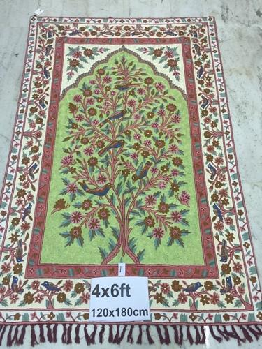 Multi Color Silk Chain Stitch Rugs