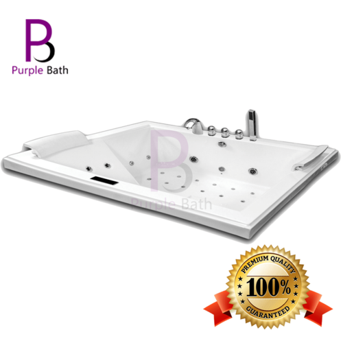 Purple Bath White Veera Jacuzzi Acrylic Hydromassage bathtub