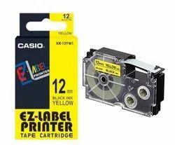 Casio XR-12YW1, 12 mm, Black on Yellow