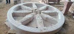 Same White stone Craving Work, Shape: Square